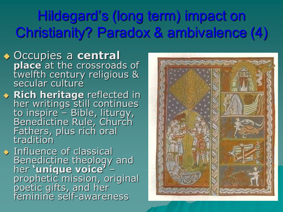 Hildegard's (long term) impact on Christianity
