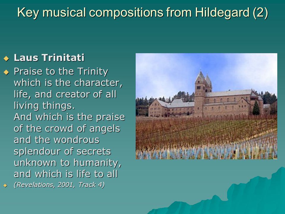 Key musical compositions from Hildegard (2)