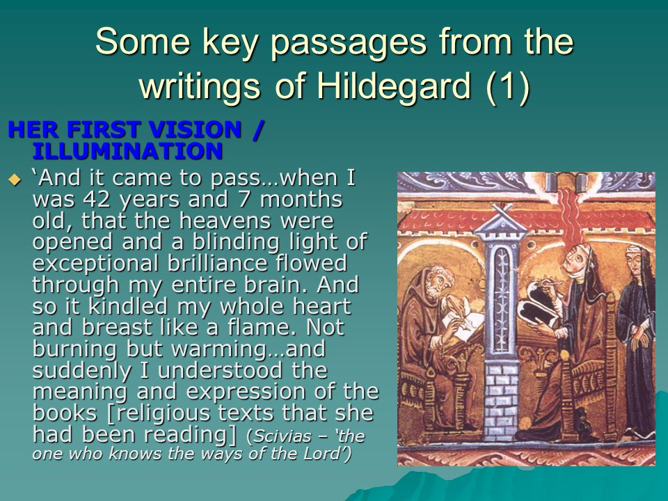 Some key passages from the writings of Hildegard (1)