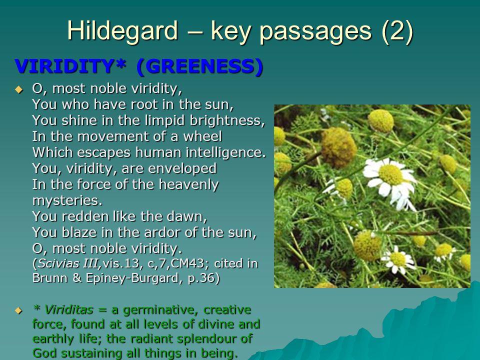 Hildegard – key passages (2)