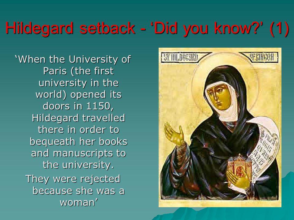 Hildegard setback - 'Did you know ' (1)