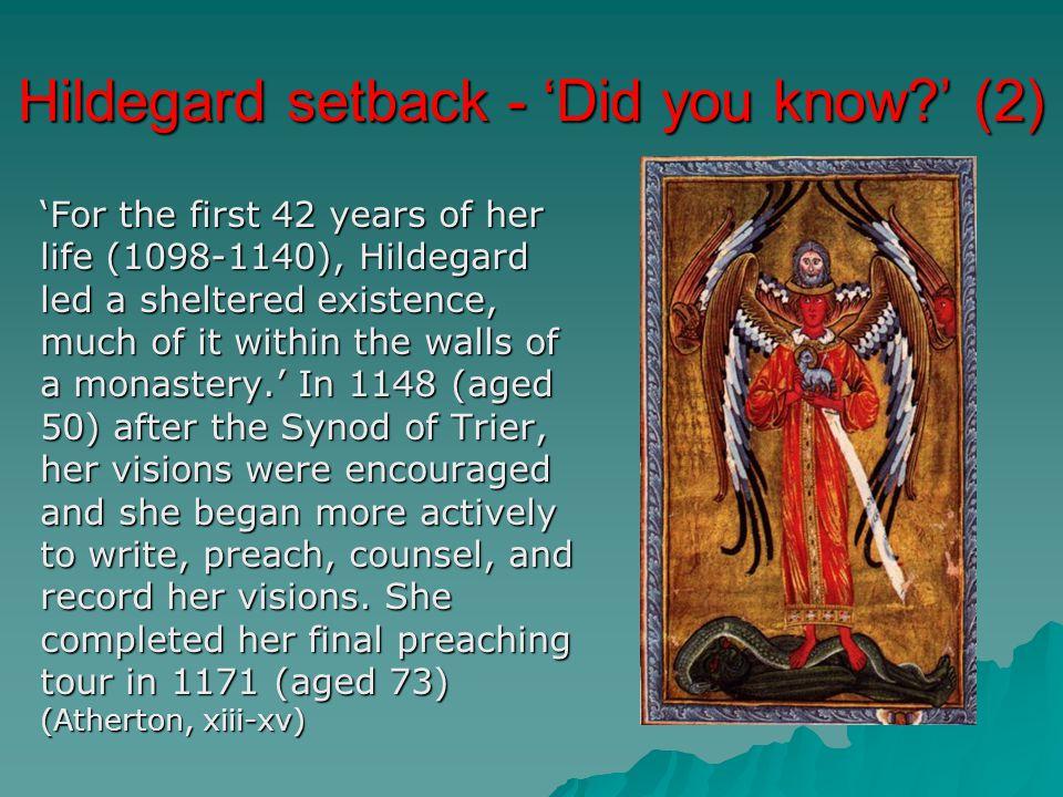 Hildegard setback - 'Did you know ' (2)