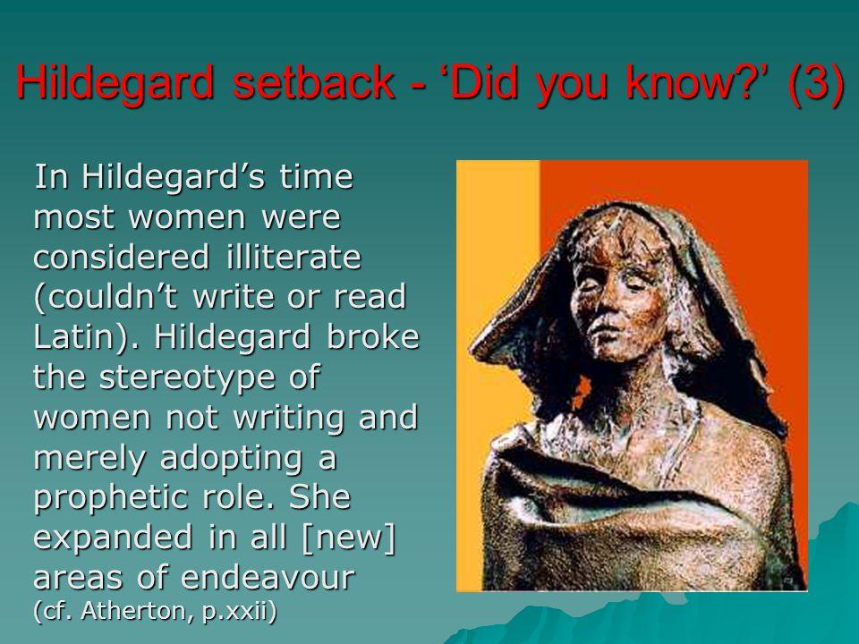 Hildegard setback - 'Did you know ' (3)