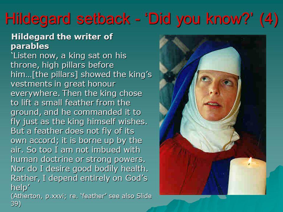 Hildegard setback - 'Did you know ' (4)