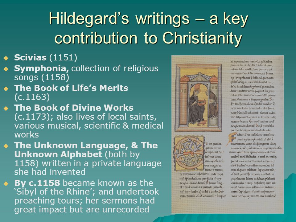 Hildegard's writings – a key contribution to Christianity