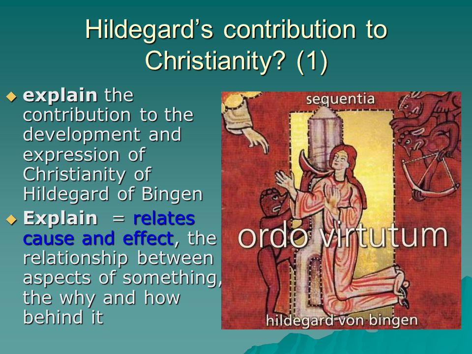 Hildegard's contribution to Christianity (1)