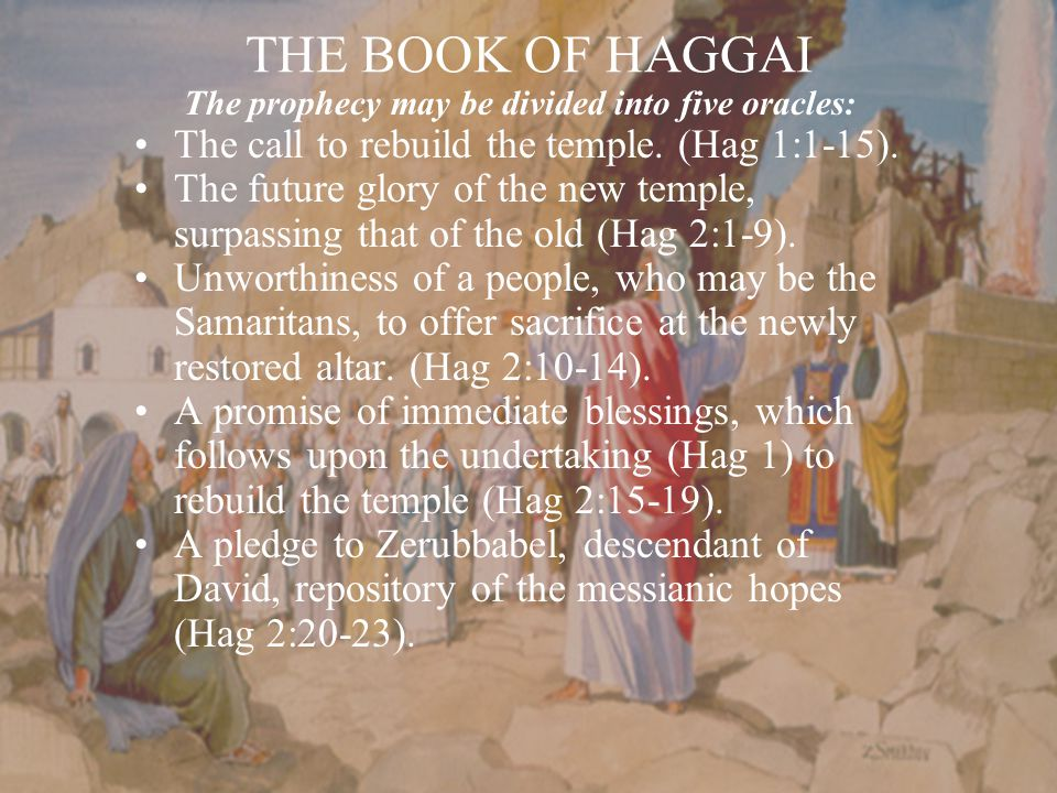 The prophecy may be divided into five oracles:
