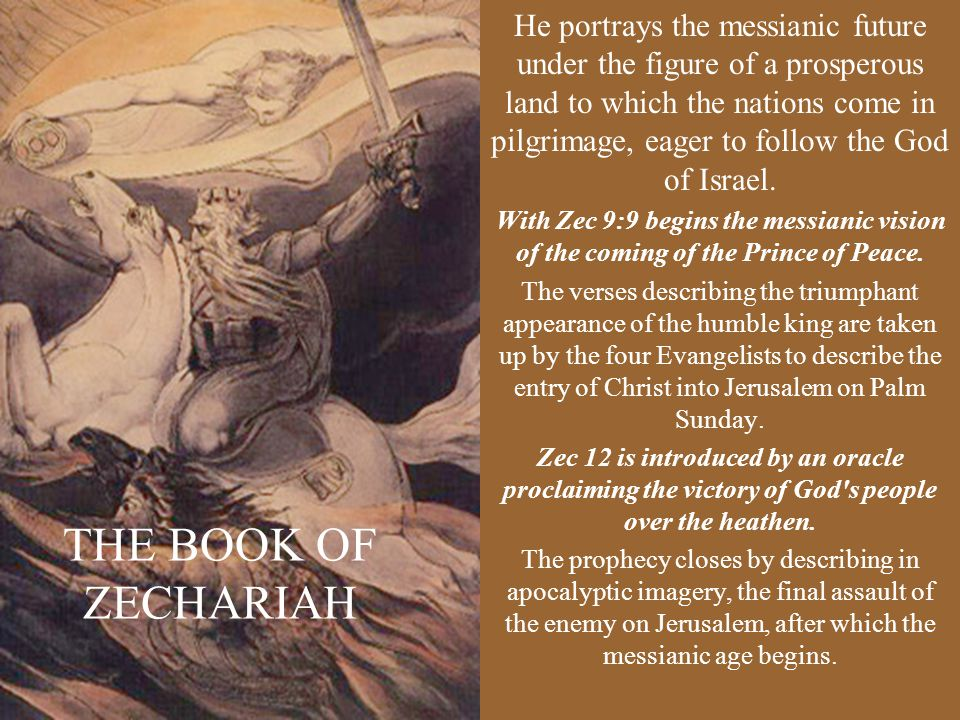 He portrays the messianic future under the figure of a prosperous land to which the nations come in pilgrimage, eager to follow the God of Israel.