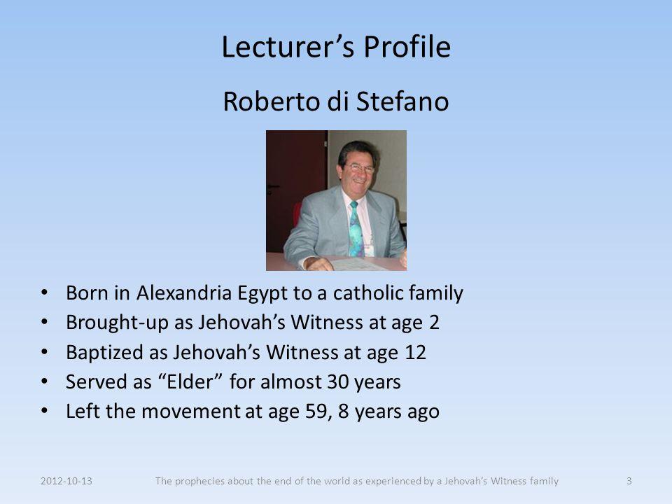 Lecturer's Profile Roberto di Stefano