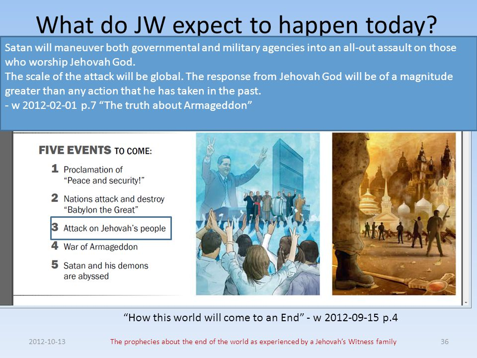 What do JW expect to happen today