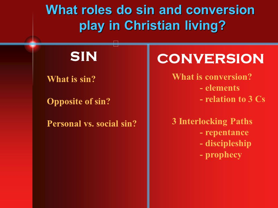 What roles do sin and conversion play in Christian living