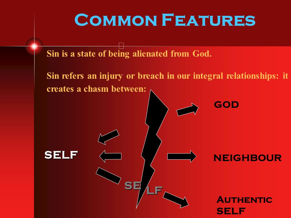 Common Features SELF SE LF GOD NEIGHBOUR Authentic SELF