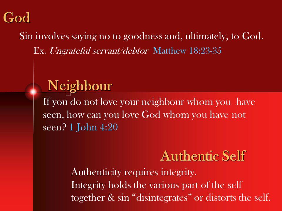 God Neighbour Authentic Self