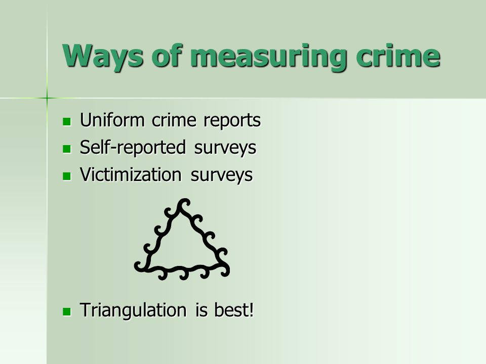 Ways of measuring crime