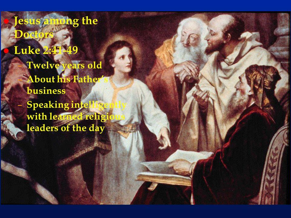 Jesus among the Doctors Luke 2:41-49