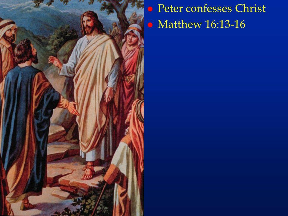 Peter confesses Christ