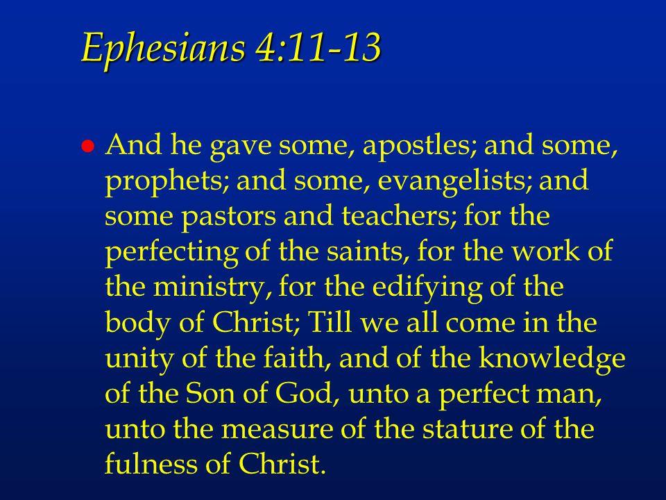 Ephesians 4:11-13