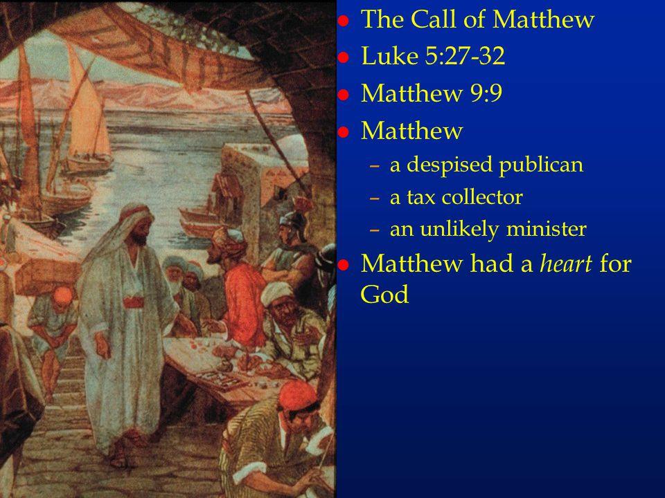 cc41 The Call of Matthew Luke 5:27-32 Matthew 9:9 Matthew