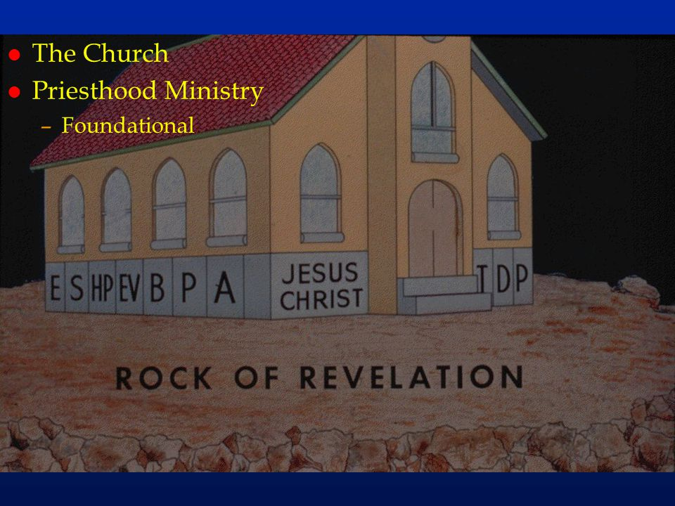 The Church Priesthood Ministry Foundational cc46