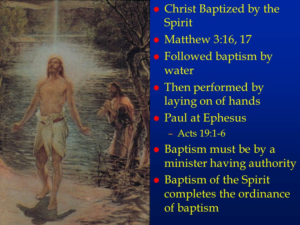 cc57 Christ Baptized by the Spirit Matthew 3:16, 17