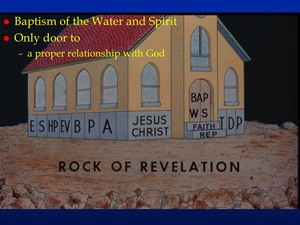 cc58 Baptism of the Water and Spirit Only door to