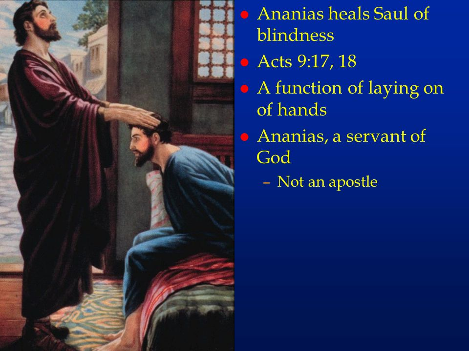 cc59 Ananias heals Saul of blindness Acts 9:17, 18