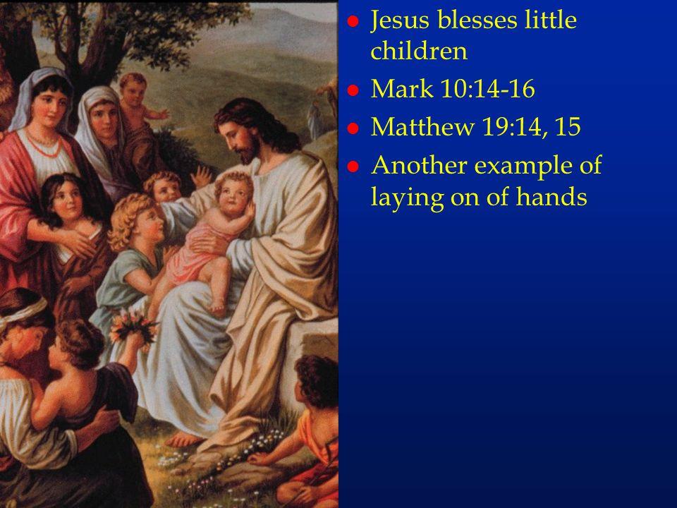 cc61 Jesus blesses little children Mark 10:14-16 Matthew 19:14, 15
