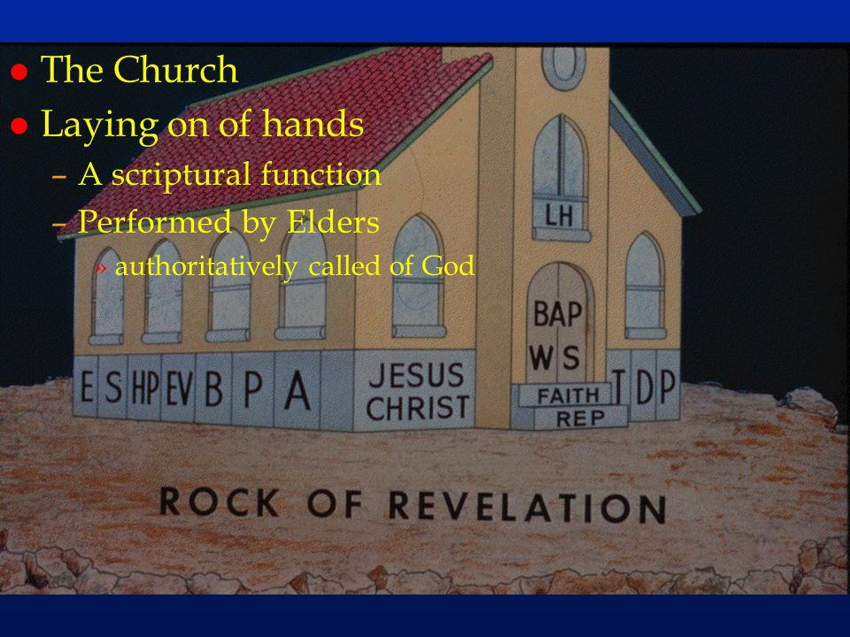 cc62 The Church Laying on of hands A scriptural function