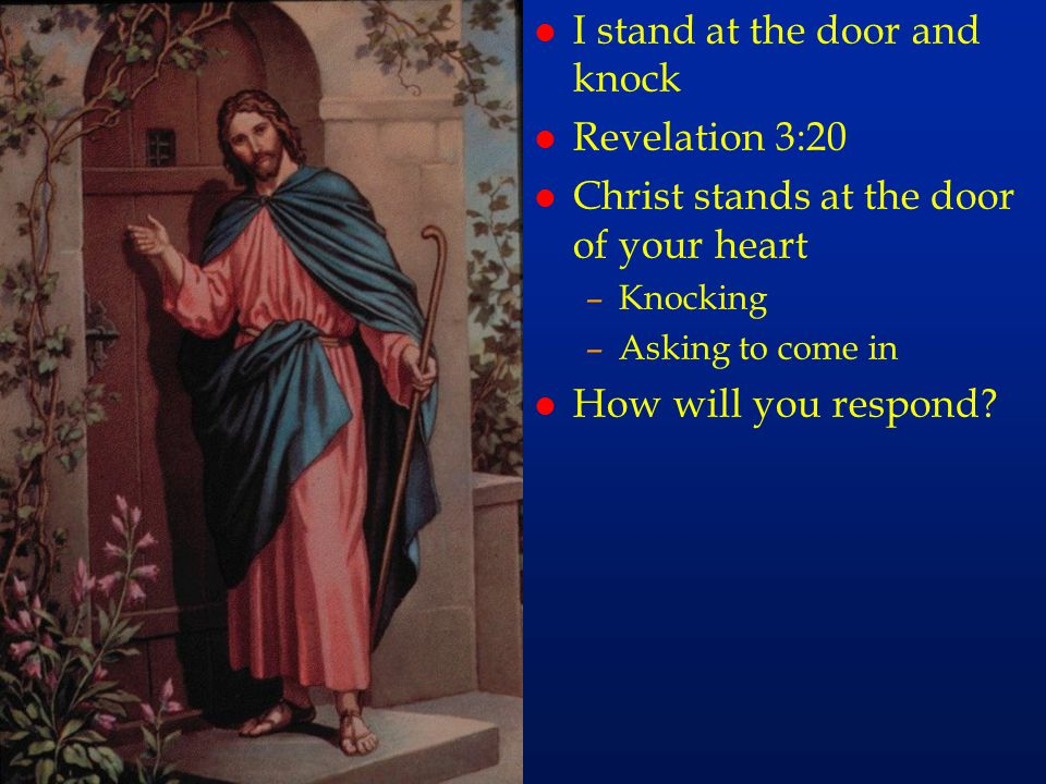 cc77 I stand at the door and knock Revelation 3:20