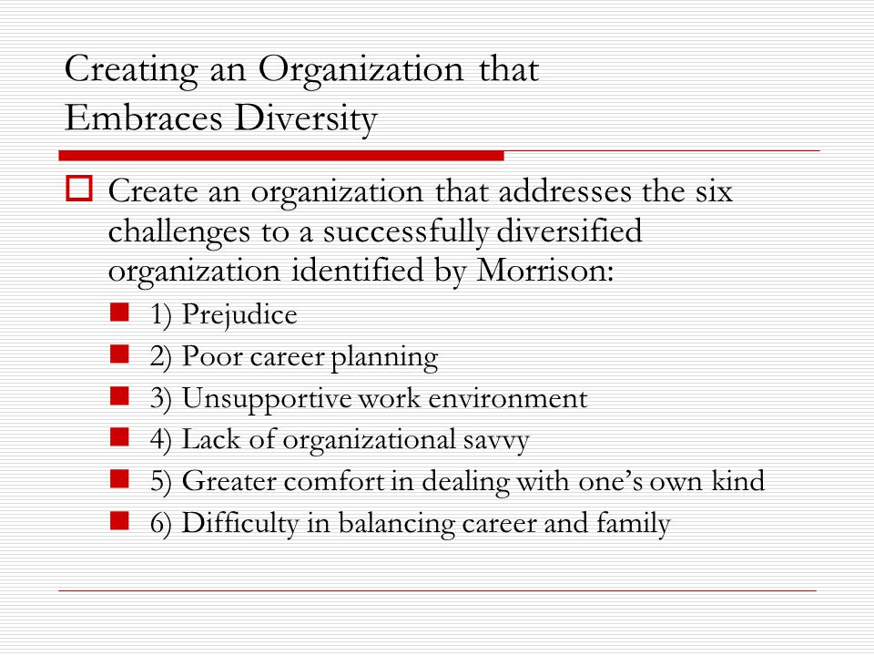 Creating an Organization that Embraces Diversity