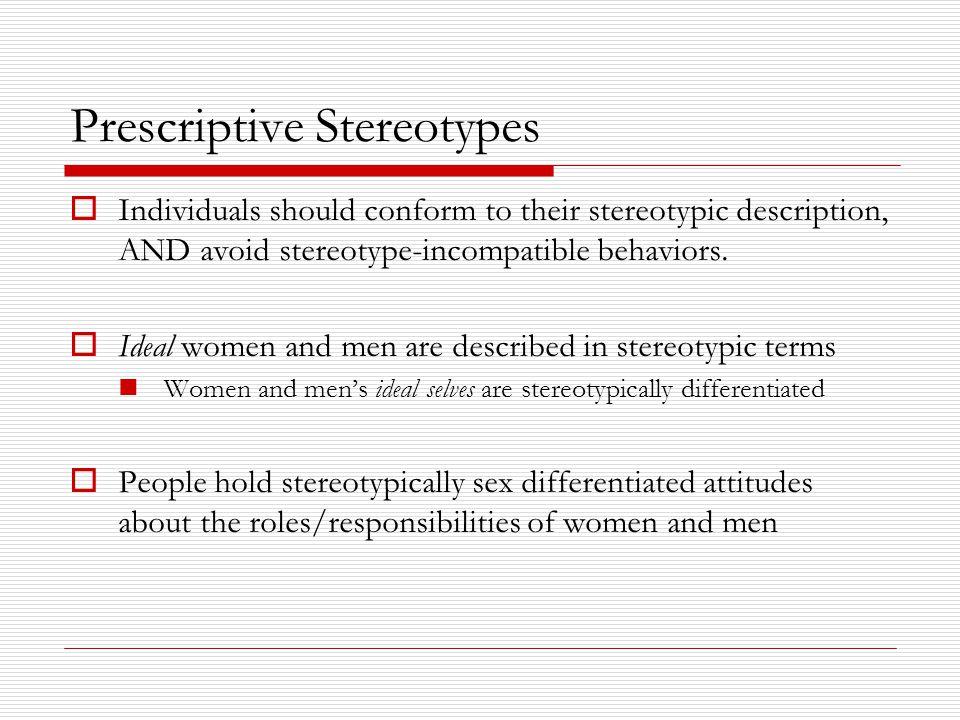 Prescriptive Stereotypes