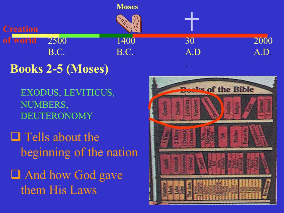 EXODUS, LEVITICUS, NUMBERS, DEUTERONOMY