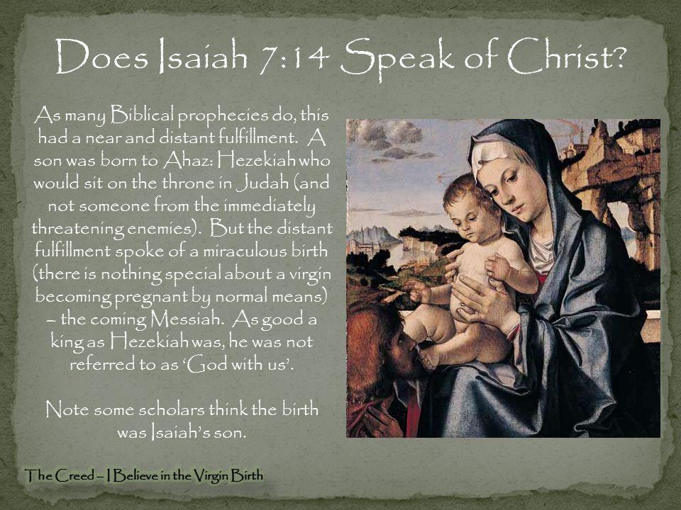 Does Isaiah 7:14 Speak of Christ