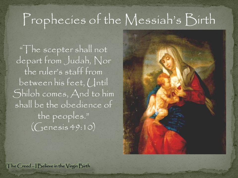 Prophecies of the Messiah's Birth