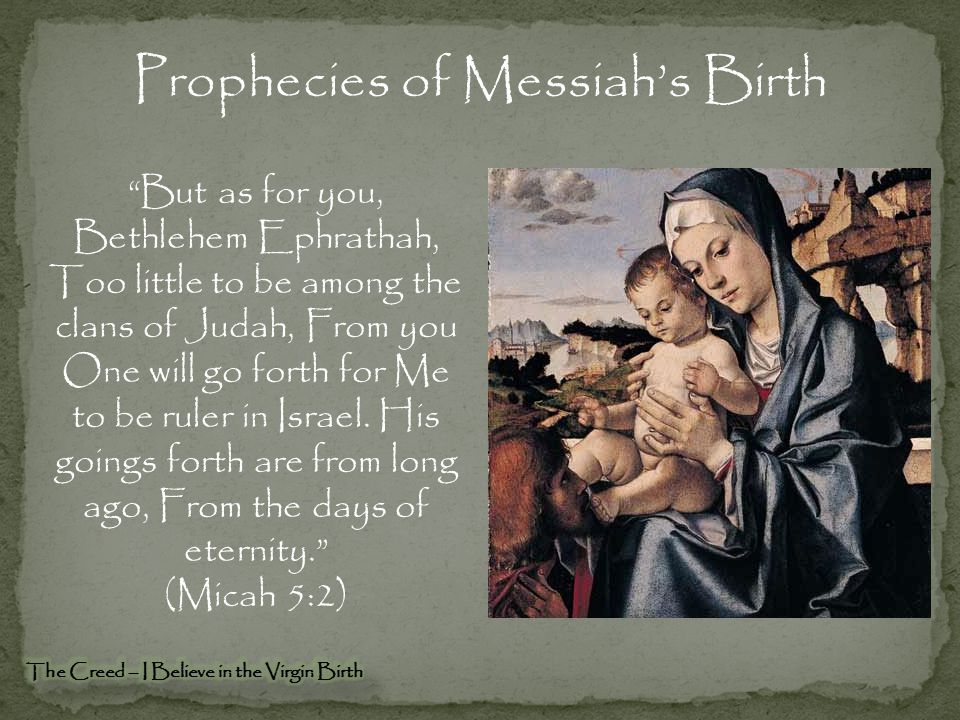 Prophecies of Messiah's Birth