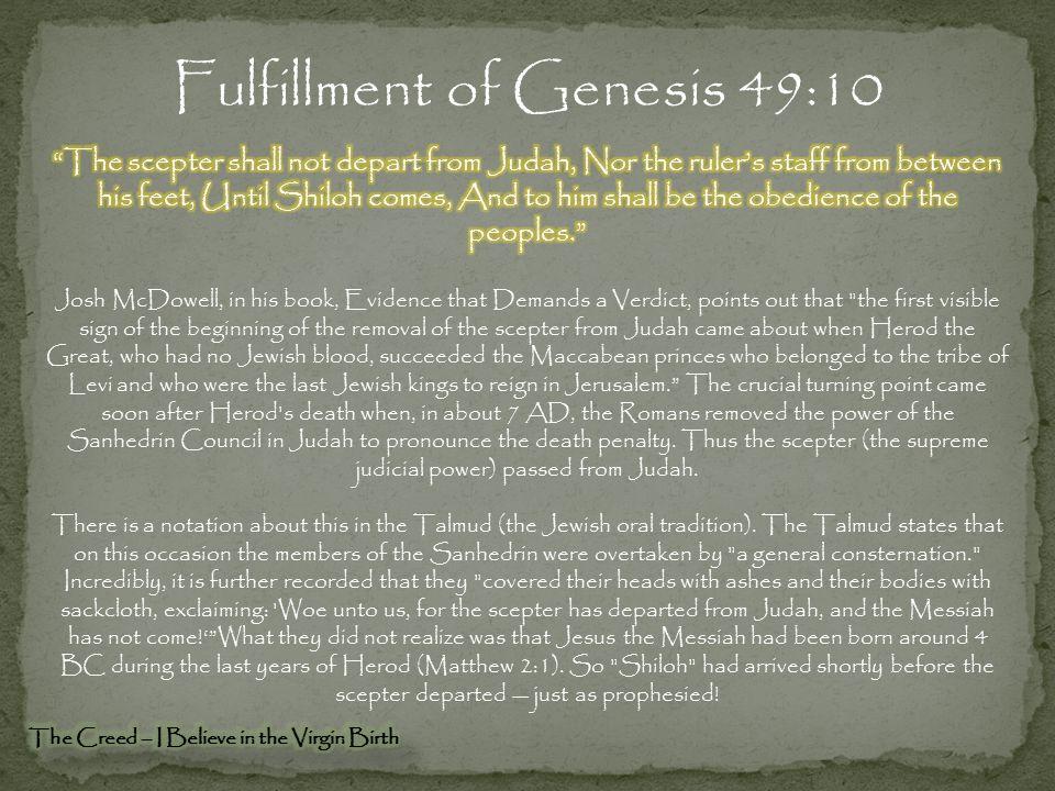 Fulfillment of Genesis 49:10