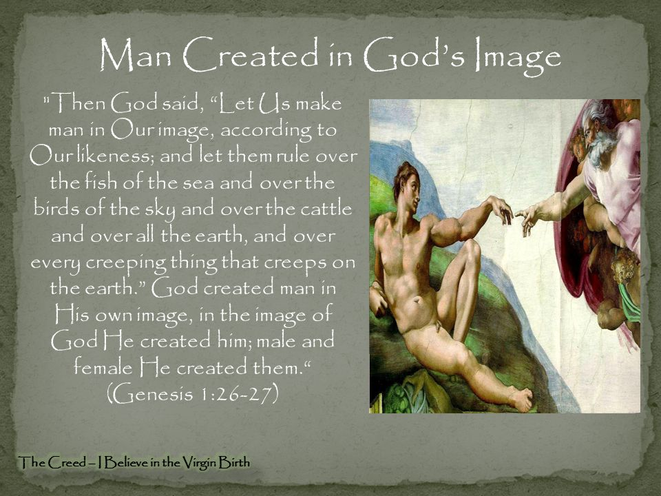 Man Created in God's Image