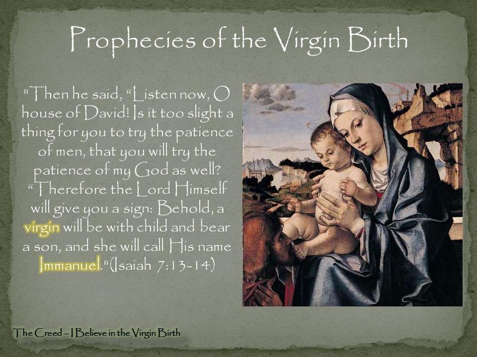 Prophecies of the Virgin Birth
