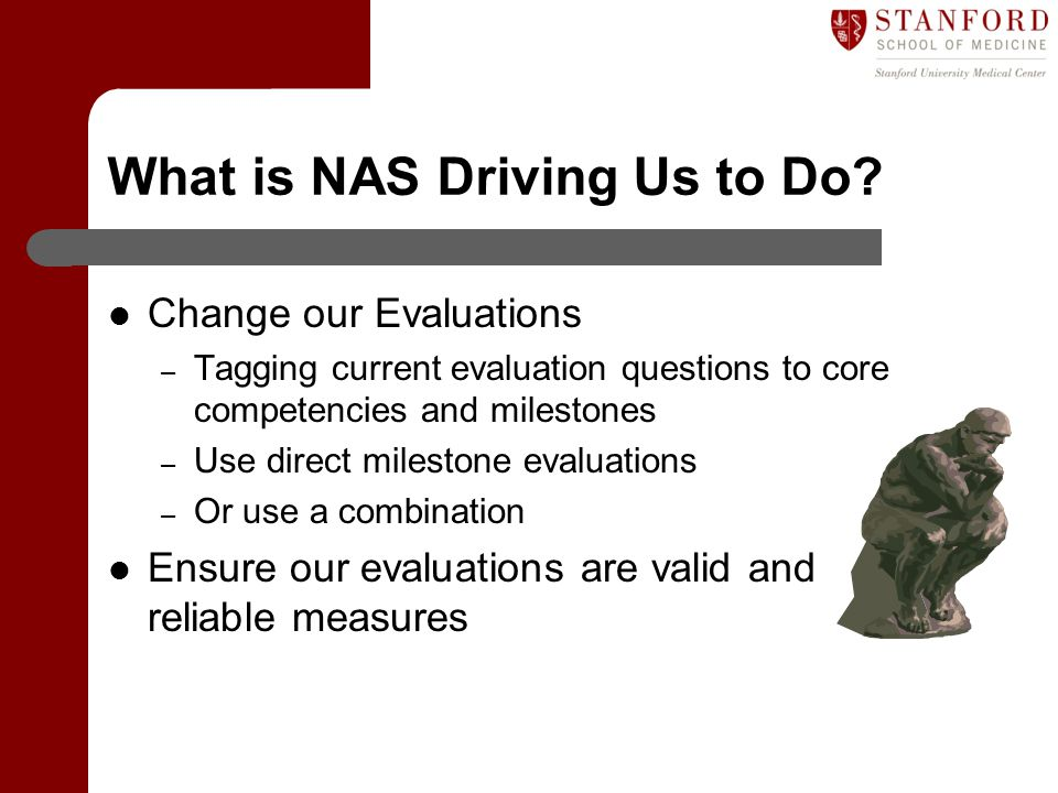 What is NAS Driving Us to Do