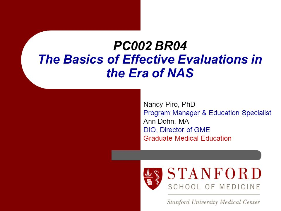 PC002 BR04 The Basics of Effective Evaluations in the Era of NAS