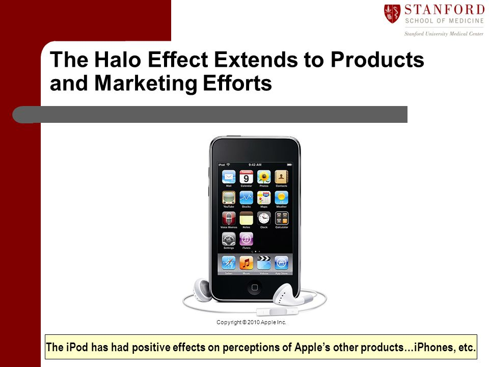The Halo Effect Extends to Products and Marketing Efforts