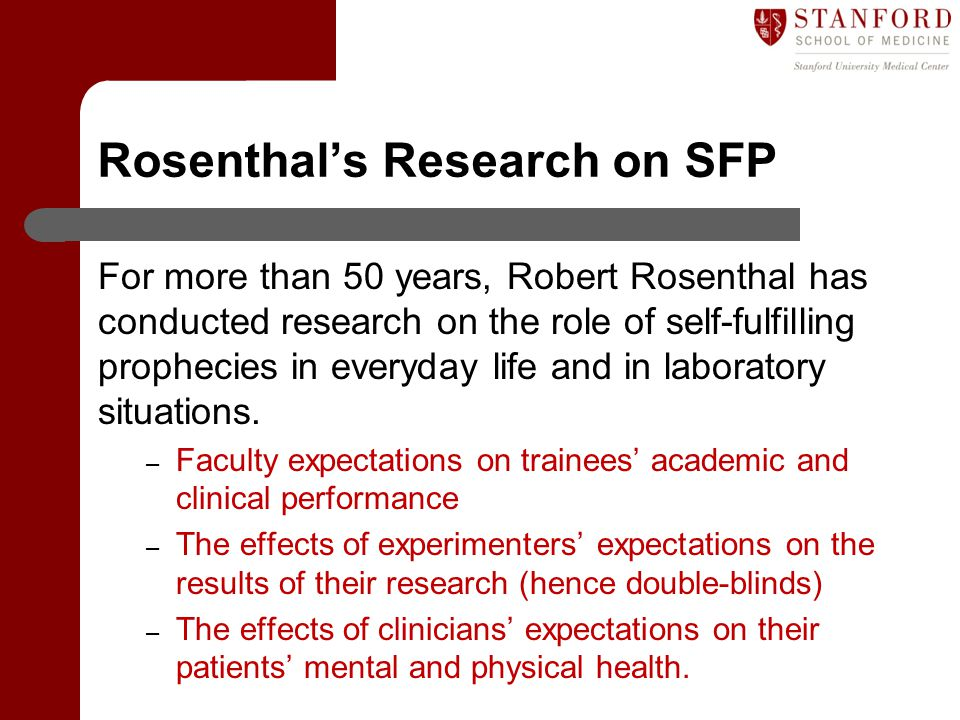 Rosenthal's Research on SFP
