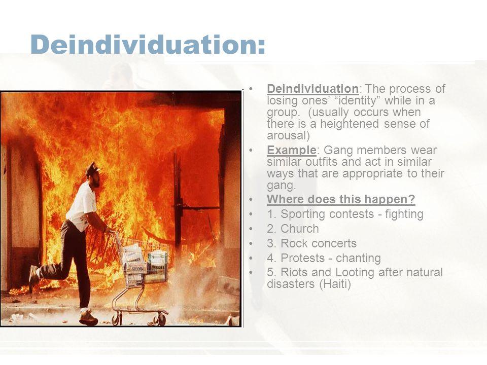 Deindividuation: