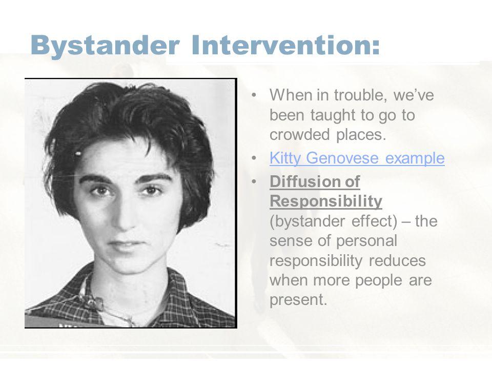 Bystander Intervention: