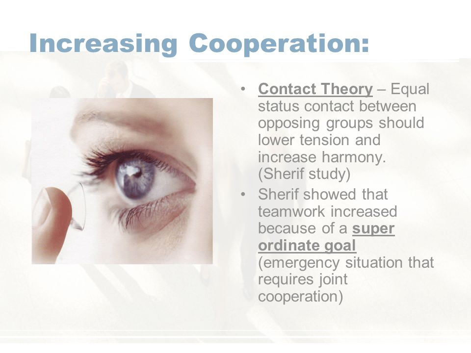 Increasing Cooperation: