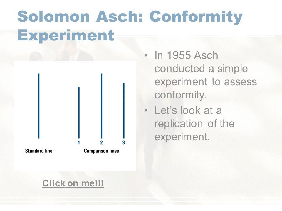 Solomon Asch: Conformity Experiment