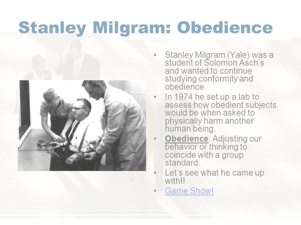 Stanley Milgram: Obedience