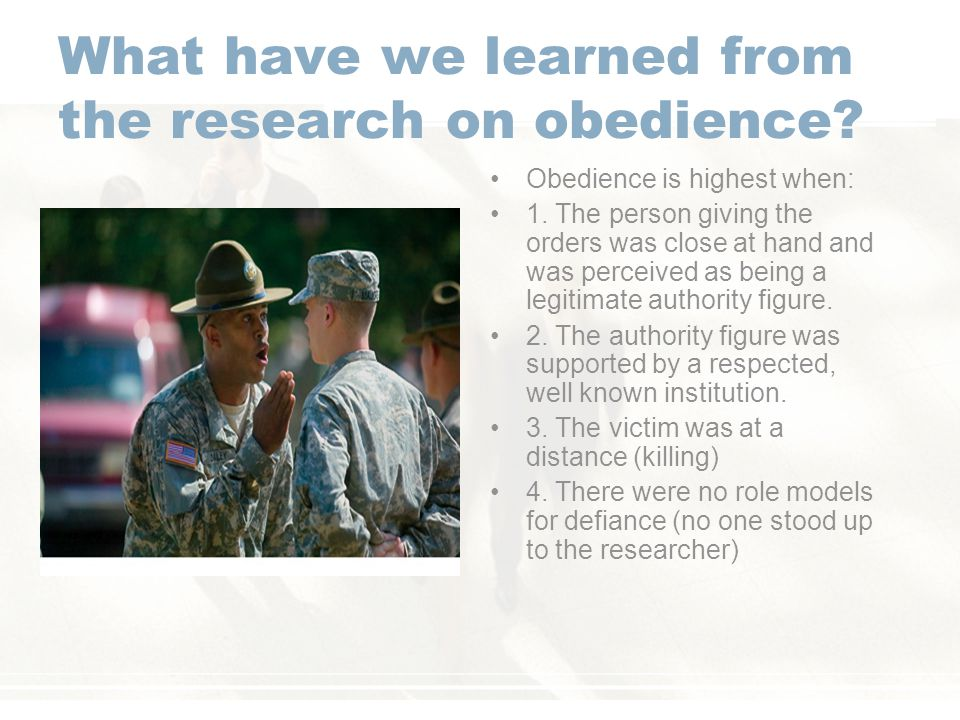 What have we learned from the research on obedience