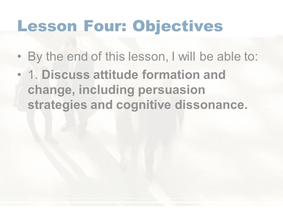 Lesson Four: Objectives