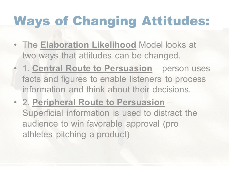 Ways of Changing Attitudes: